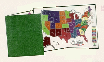 littleton coin 16 x 26 50 state multi color u s quarter map folds to 13 x16 holds all 50 coins